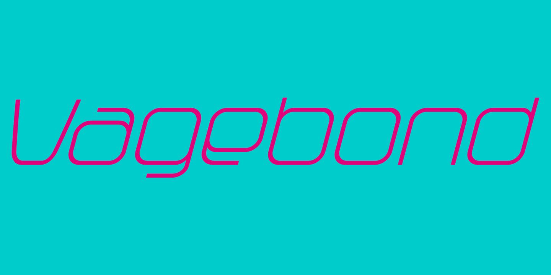 CFF Vagebond monoline vintage typeface
