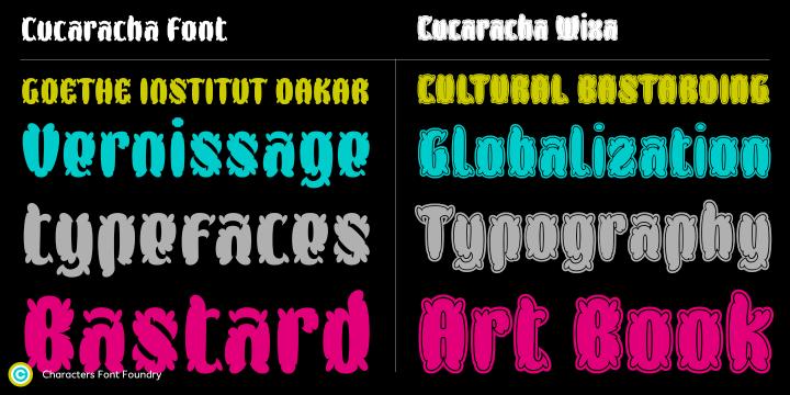 CFF Cucaracha kick ass floral typeface
