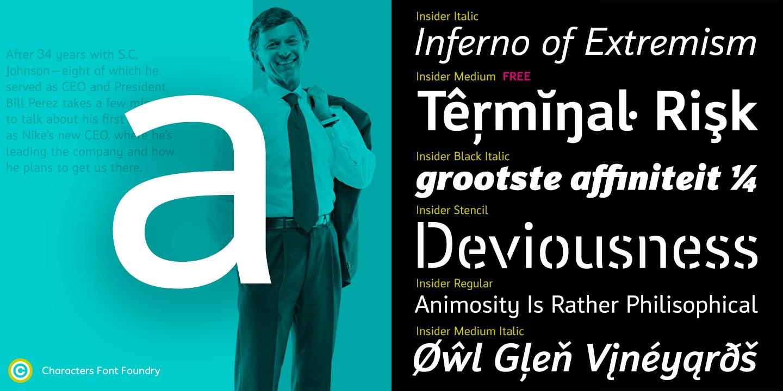 CFF Insider Pro typeface