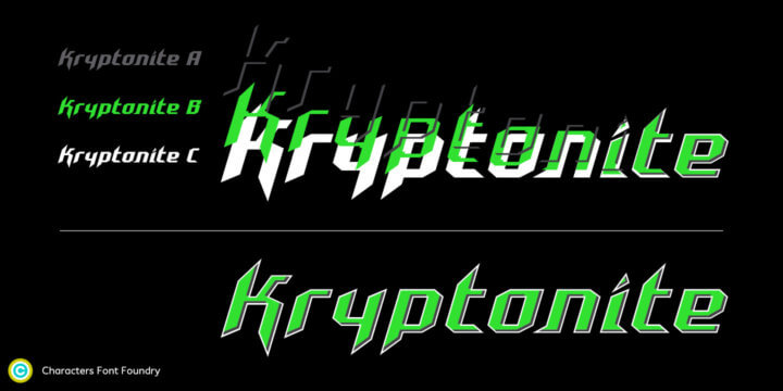 CFF Kryptonite a chromatic font family