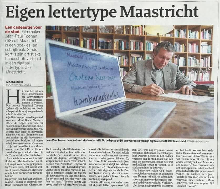 Kranten artikel De Limburger